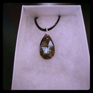 Jewelry - Chocolate Diamond Crystal Teardrop Necklace